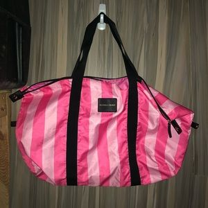 Victoria's Secret tote/duffle bag pink in color